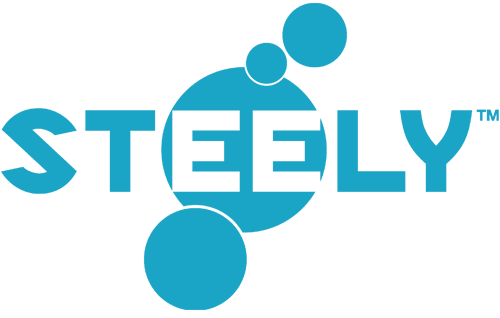 Steely Water Bottles Retina Logo